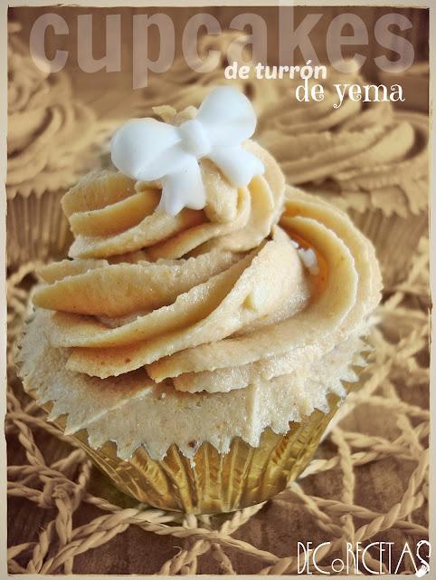Cupcakes de turrón de yema