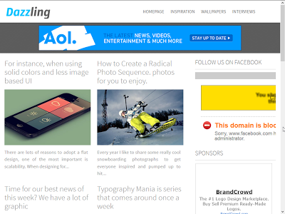 Dazzling Responsive Blogger Template