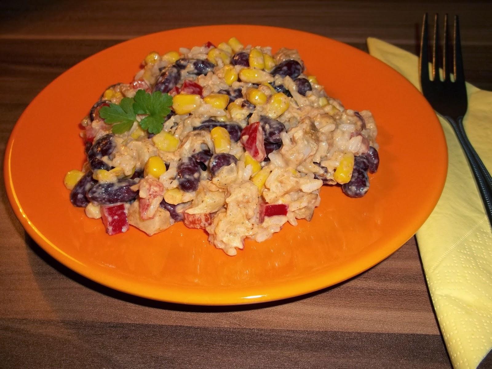 Salatkowy Raj Salatka Meksykanska Z Kurczakiem Ananasem Fasola