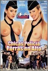 Chicas policía porras en alto