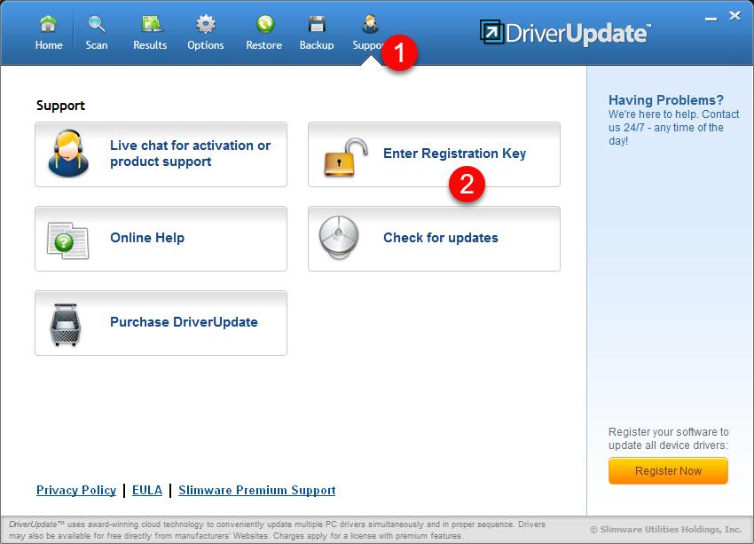 slimware driver update activation key