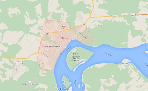 Mapa de Altamira - Pará