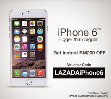 iPhone6 Voucher at Lazada RM200 OFF