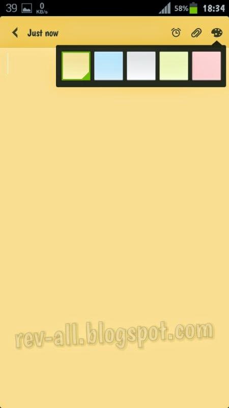 Pilihan Warna Notes MIUI V4 - aplikasi notepad MIUI untuk semua Android (rev-all.blospot.com)
