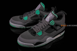Sole awesome air jordan iv quot green glow quot