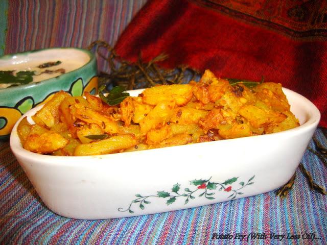 image of Potato Fry Recipe / Easy Aloo Fry Recipe / Easy Potato Fry Recipe with Less Oil