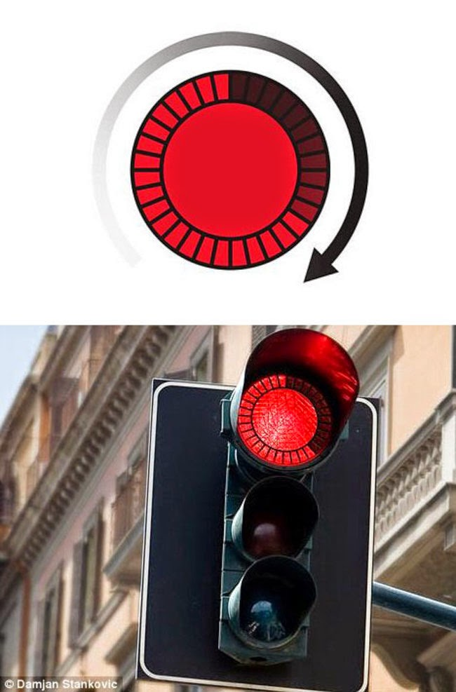Traffic lights with countdown indicators.