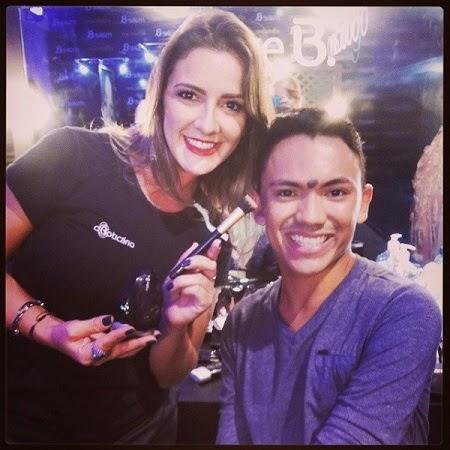 Eu e Vanessa Bento Top Maquiadora.