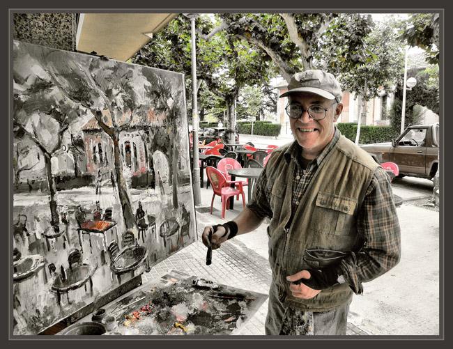 Ernest descals artista pintor pintura pueblos vida rural paisaje cuadros pintor pintando ernest - Pintores en lleida ...