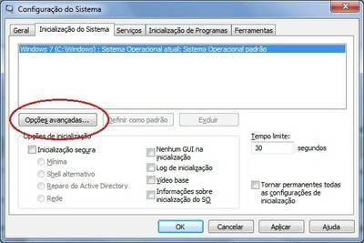 Configuração do sistema do Windows 7