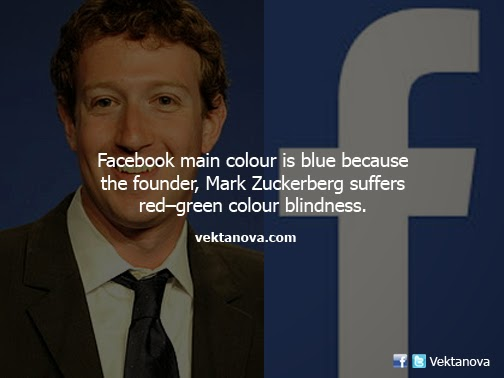 Mark Zuckerberg is Red-green Colour Blind