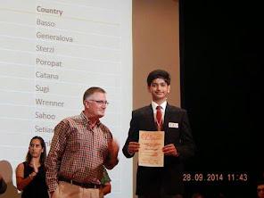 PCCP Student Lakshya Bhatnagar  won medal in IESO