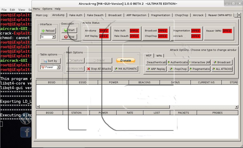 aircrack interfaccia grafica