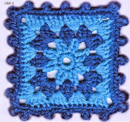 esquemas de squares tejidos con ganchillo