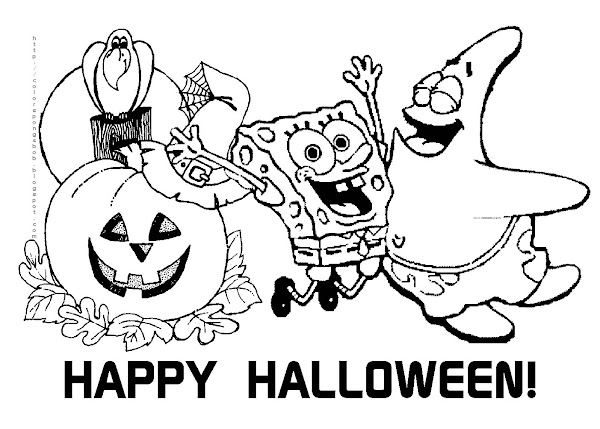 Spongebob Halloween Coloring Pages