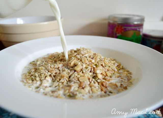 Healthy high protein, low GI breakfast cereal recipe