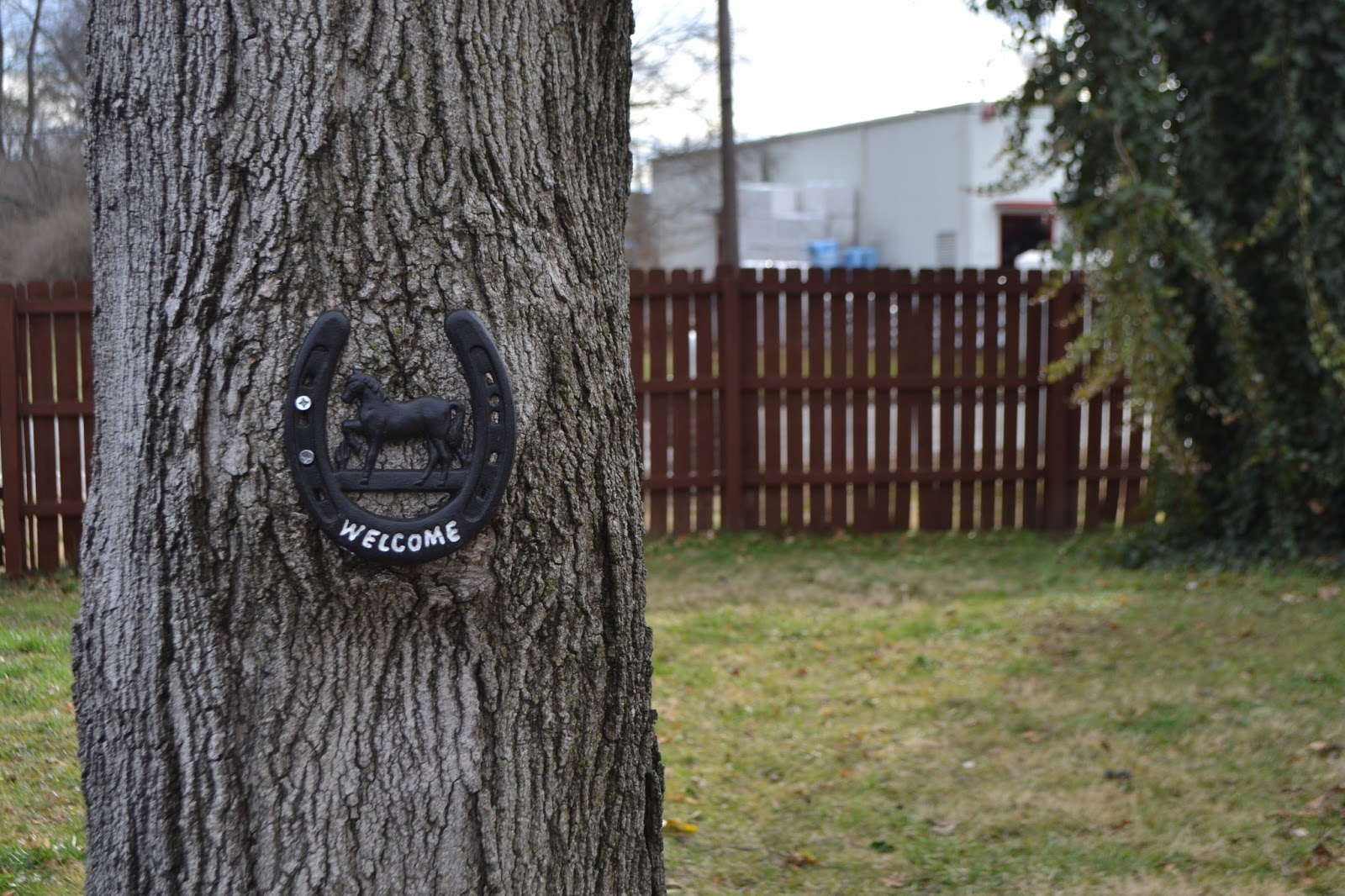welcome horseshoe outdoor