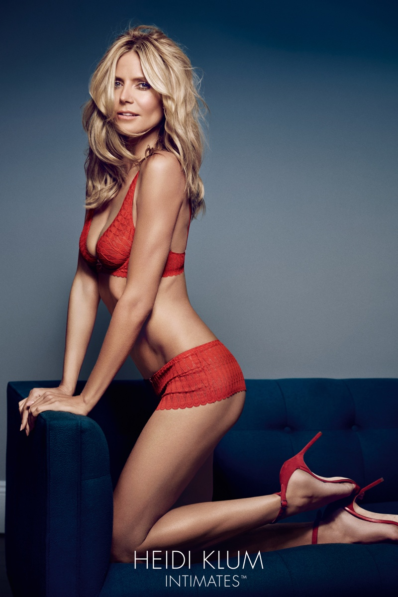 Heidi Klum turns up the heat for her Intimates Campaign Latest