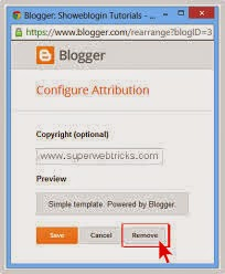How to Removing the attribution gadget from mobile template blogs