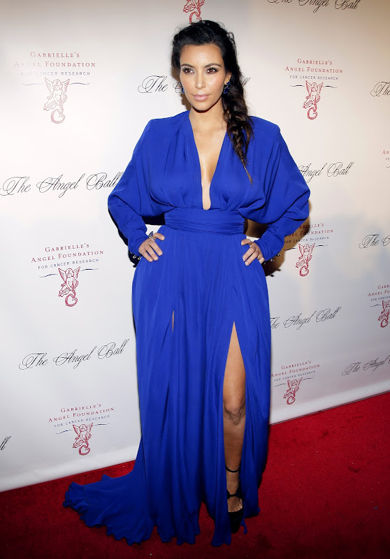 Kim Kardashian at  Angel Ball 2012  red carpet