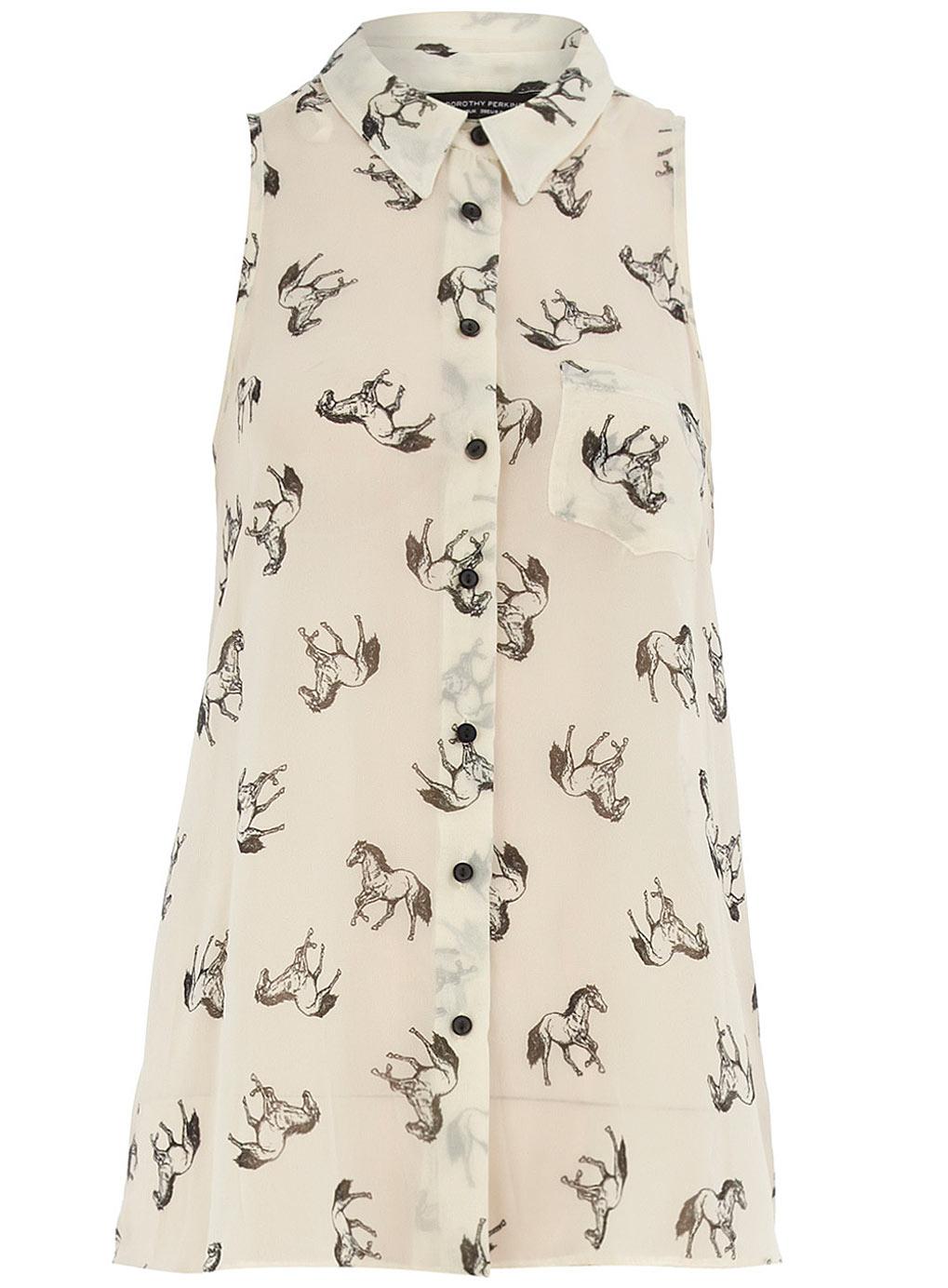 Horse Print Blouse Zara 39
