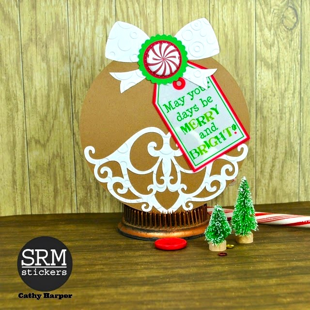 SRM Stickers Blog - Bossy Joscie Cards by Cathy H - #bossyjoscie #flair #christmas #cards #stickers