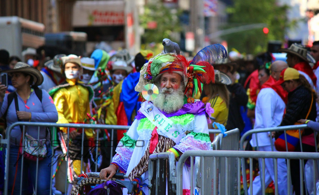 Desfile de la hispanidad de Nueva York 2014 - Personaje colombiano