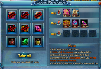Dragon PAls Log in Rewards