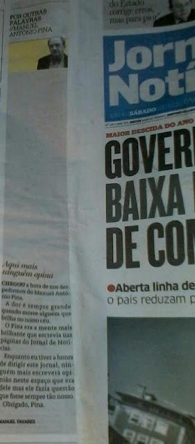 Manuel António Pina, Por Outras Palavras, Jornal de Notícias, Crónicas