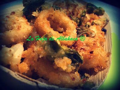 frito potas alcachofas
