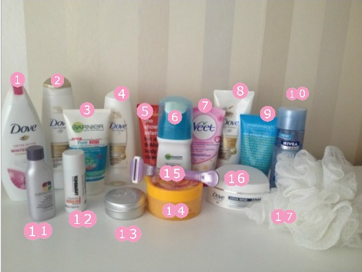 What 39 s in my shower kimberly beauty lifestyle blog for Bathroom goods