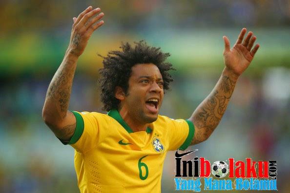 Marcelo Tak Terima Dengan Keputusan Wasit Dalam Pertandingan Brasil vs Mexico