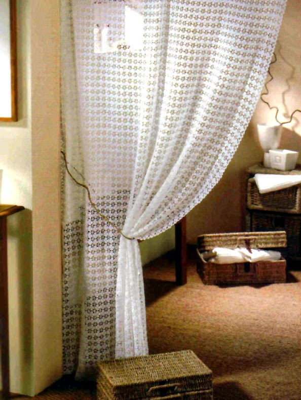 Tejidos artesanales en crochet cortina moderna tejida en - Cortina moderna ...