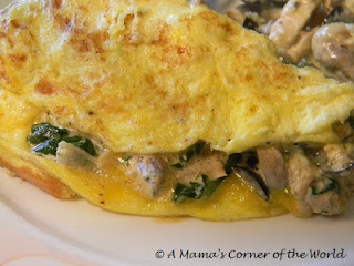 Creamy Chicken & Garden Vegetable Omelet Recipe
