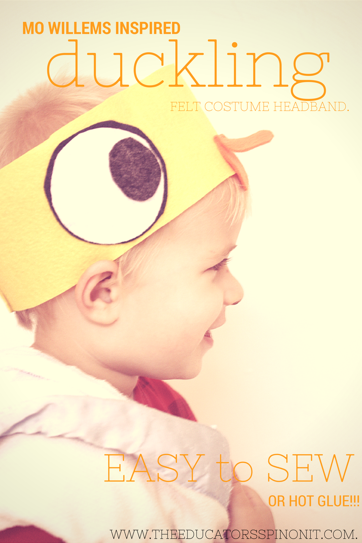 Easy to Sew Duckling Costume Headband for Pretend Play or Halloween