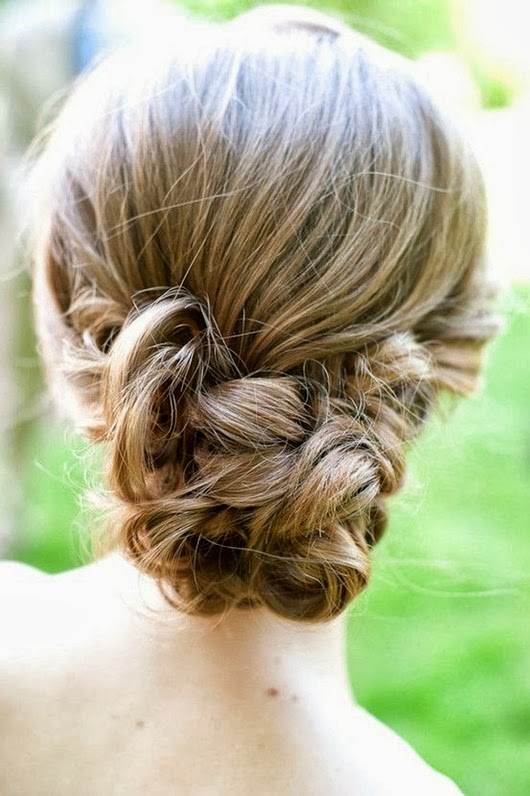 wedding hairstyles ideas loose cross chignon bun