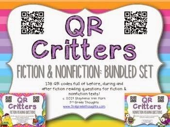 http://www.teacherspayteachers.com/Product/QR-Critters-BUNDLE-Fiction-Nonfiction-Reading-Questions-1148568