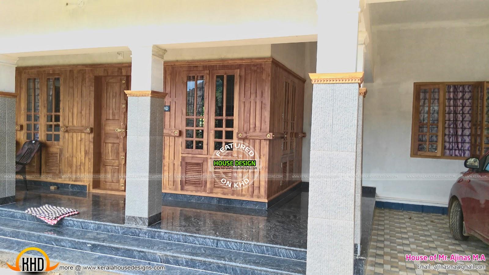 House at mundakkayam kerala kerala home design and for Verandah designs in india