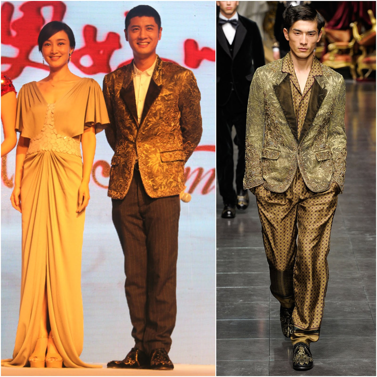 00O00 London Menswear Blogger Celebrity Style Ren Zhong in Dolce & Gabbana / 【任重受邀出席时尚活动,身穿杜嘉班纳华丽晚礼服夹克】
