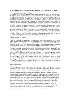 Biblioteca áulica: situaciones didácticas