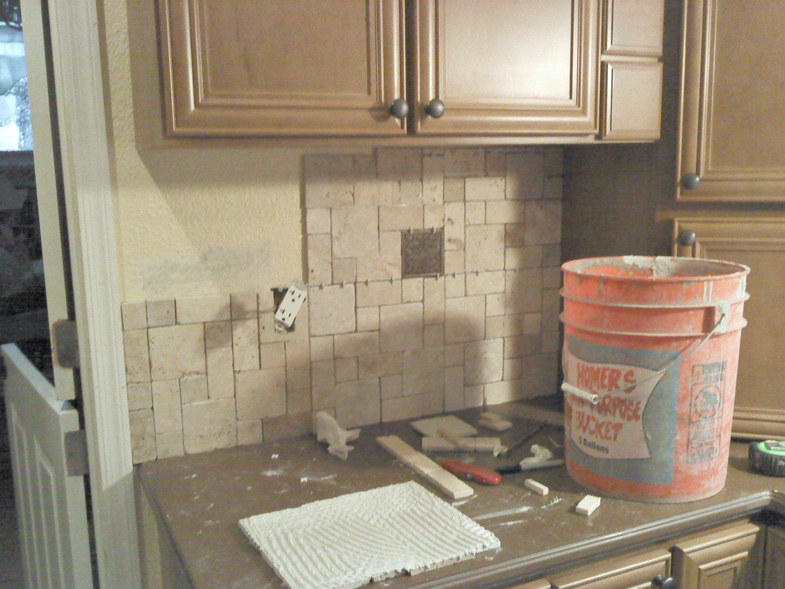 Can you put backsplash over tile