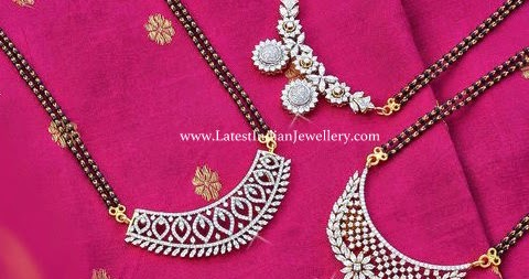 long black beads diamond pendants