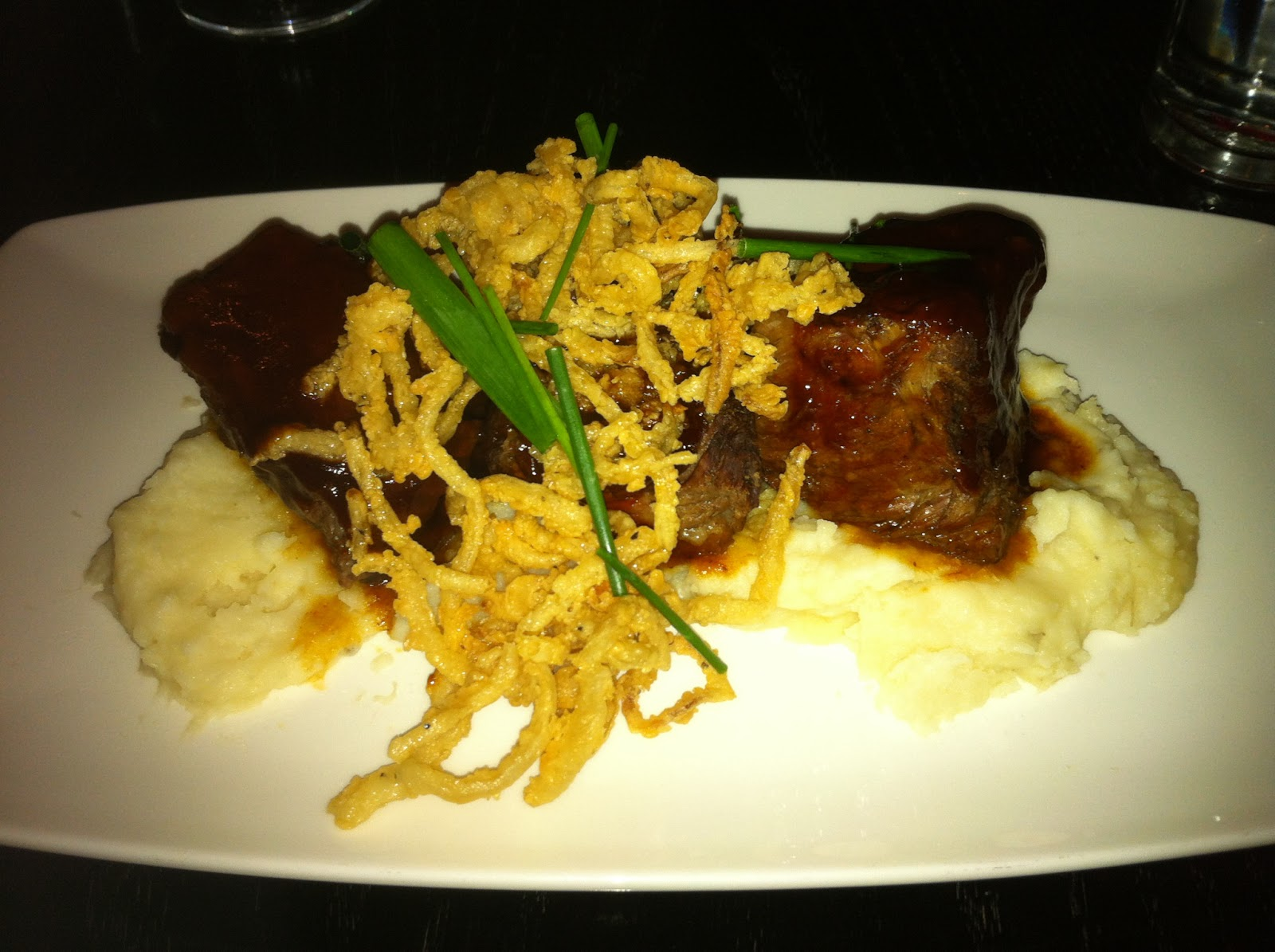Dish Restaurant Dallas Short Ribs Braised BBQ Barbecue Barbeque Bar-B-Que