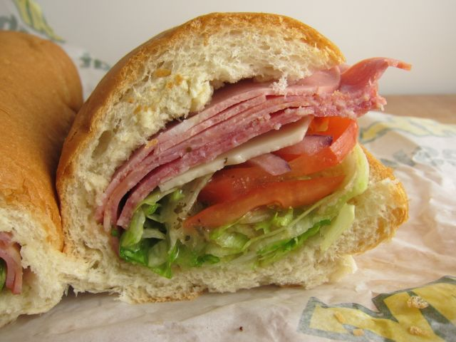 Italian Hero Sandwich Review: subway - italian hero brand eating