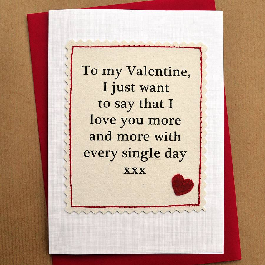 Handmade Valentine Cards – Single Valentines Cards