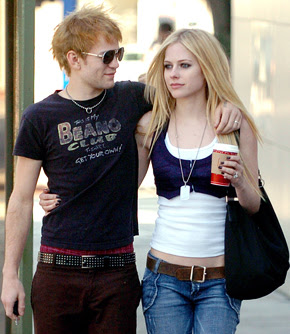 Avril Lavigne with Husband