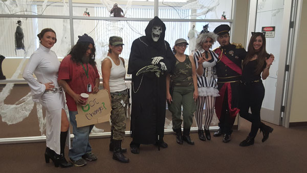 GotPrint Staff in hallloween costumes