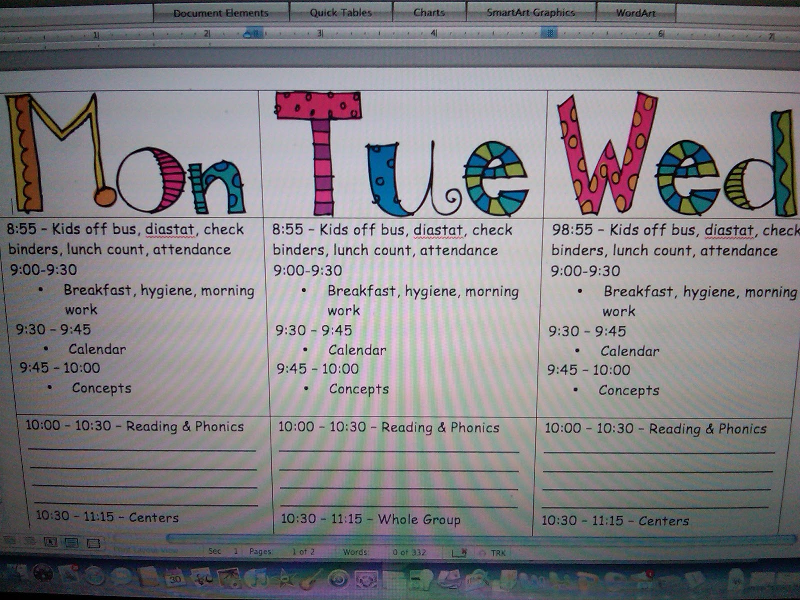 My lesson plan format