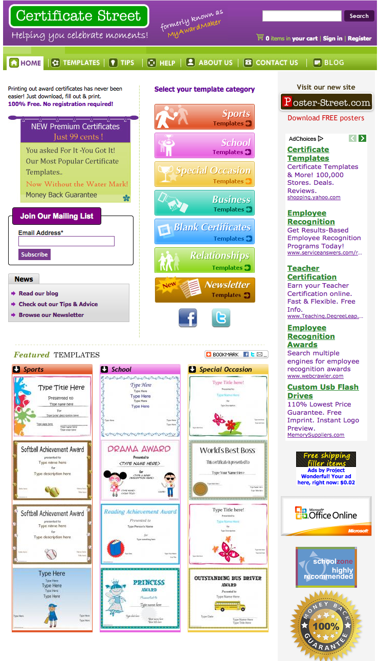Certificate templates you can download and use teacherlink blog certificate templates you can download and use xflitez Image collections
