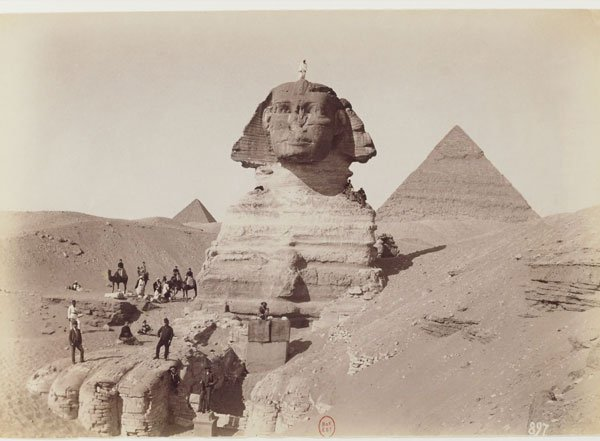 Sphinx is much older than the Pyramids!  Sphinx1880